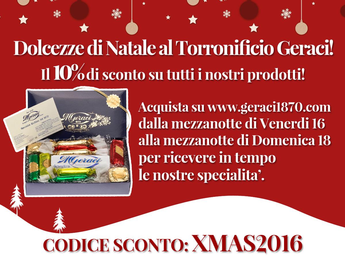 Sconti di Natale al Torronificio Geraci.